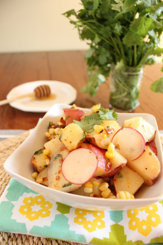 Red Potato and Grilled Corn Salad from The Messy Baker
